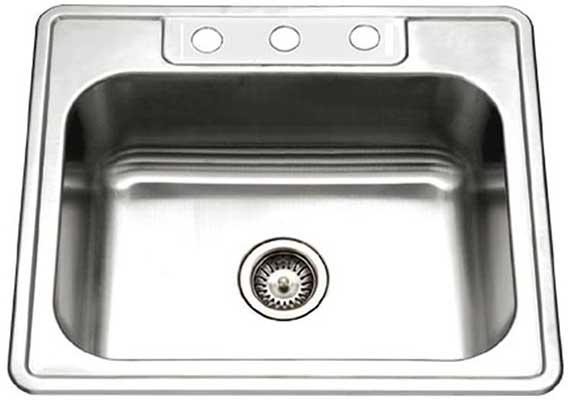 Houzer 2522-8BS3-1 Glowtone Series Topmount Kitchen Sink