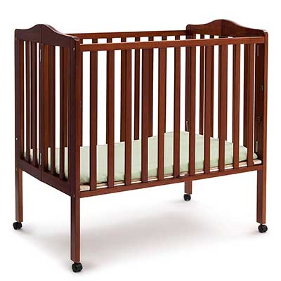 Delta Children Folding Portable Mini Baby Crib