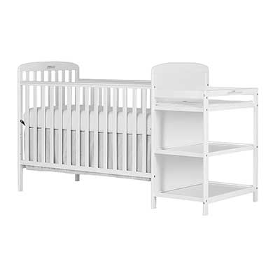 Dream On Me, Anna 4 in 1 Full-Size Crib & Changing Table Combo