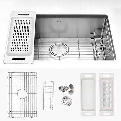 Zuhne 32-Inch Single Bowl Undermount Stainless Steel Kitchen Sink