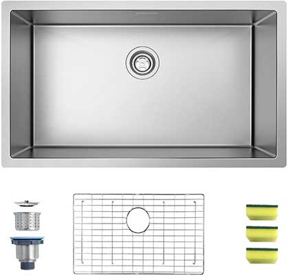 MENSARJOR 32 x 19 Inches Single Bowl Kitchen Sink