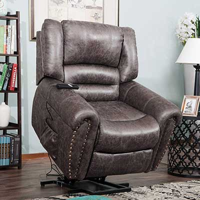 Harper & Bright Designs Smoky Brown Wilshire Series Power Lift Chair