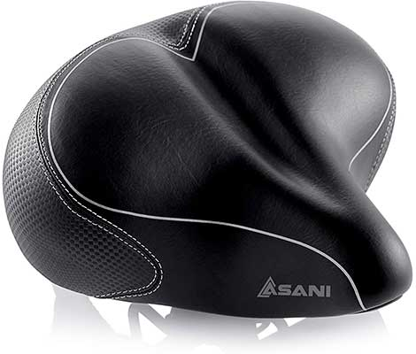 Oversized Comfort Bike Seat Most Comfortable by Asani