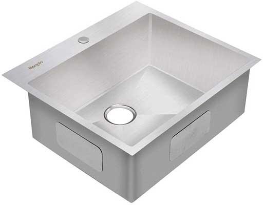Bonnlo 25-inch 16 Gauge Drop-in 304 Stainless Steel Kitchen Sink