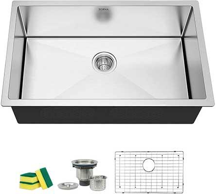 TORVA 32-Inch Undermount Kitchen Sink Stainless Steel