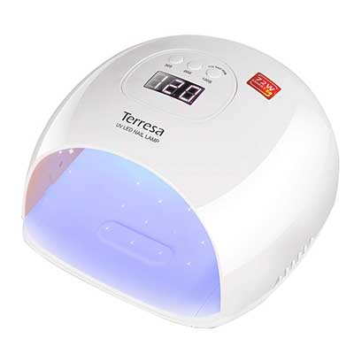 UV LED Nail Lamp, Terresa 72 Watt Faster Nail Dryer for Gel Polish