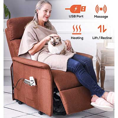 ERGOREAL Electric Lift Chair for Small Elderly People