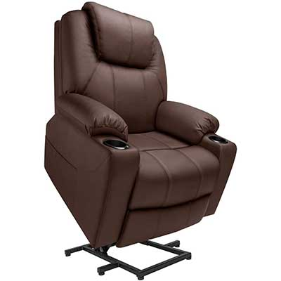 Furgle Power Lift Recliner Chair Faux Leather Electric Chair