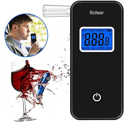 Breathalyzer, [FDA Certification] Rofeer Digital Blue LED Screen