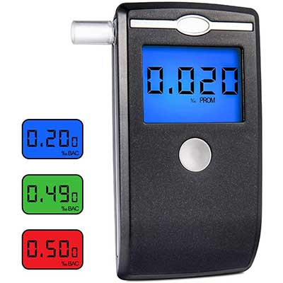 Breathalyzer Portable Breath Alcohol Tester LCD Screen