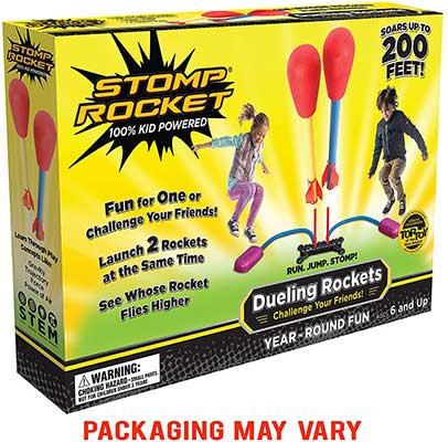 Stomp Rocket Dueling Rockets, 4 Rockets, and Rocket Launcher