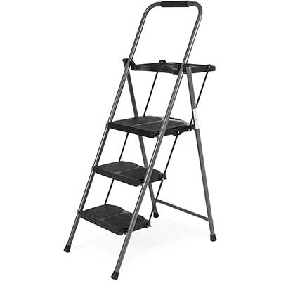 Best Choice Products Folding Steel 3-Step Stool Ladder