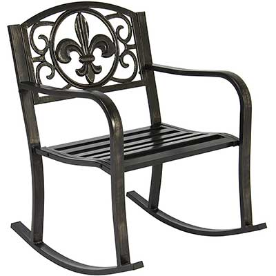 Best Choice Products Metal Outdoor Rocking Chair