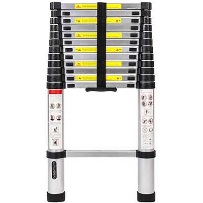 Luisladders Aluminum Telescopic Extension Ladder