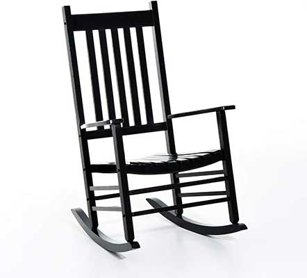 Outsunny Versatile Wooden Indoor/Outdoor Rocking Chair