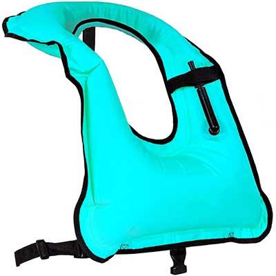 Faxpot Snorkel Vest Adult Inflatable Snorkeling Jacket