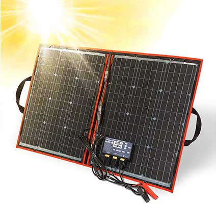 DOKIO 80 Watt 12 Volt Folding Solar Panel Kit for Camping