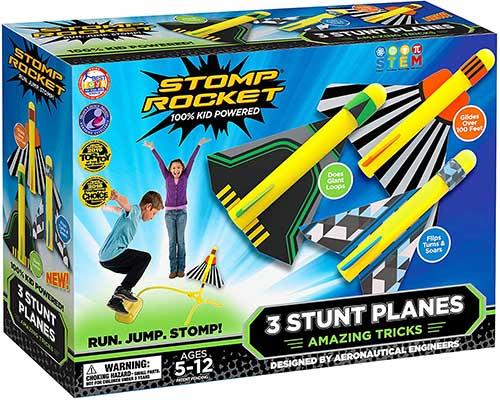 Stomp Rocket Stunt Planes – 3 Foam Plane
