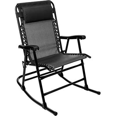 AmazonBasics Foldable Rocking Chair- Black