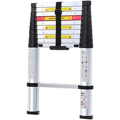 WolfWise 10.5 Feet Aluminum Telescoping Ladder