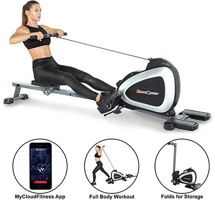 Fitness Reality Bluetooth Magnetic Rower Machine