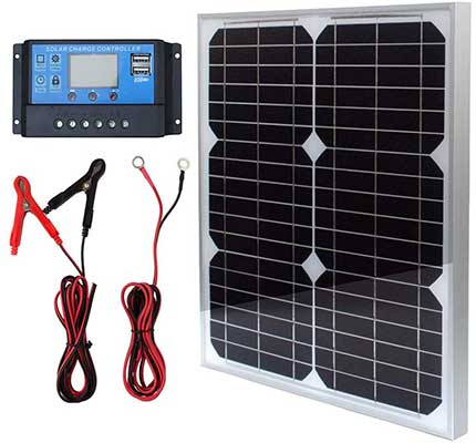 TP-Solar Panel Kit 20W 12V Monocrystalline