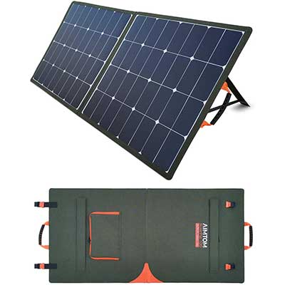 AIMTOM Solar Pal 100W Portable Solar Panel for Power Station