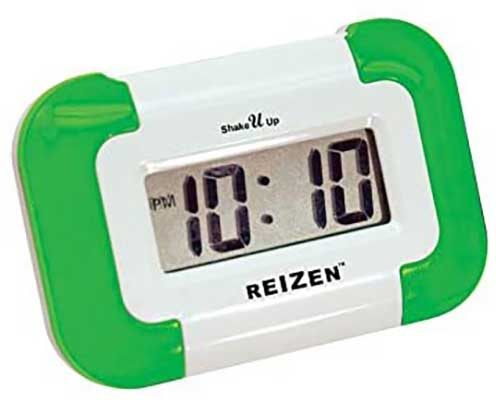 Reizen Shake U Up-Compact Vibrating Alarm Clock