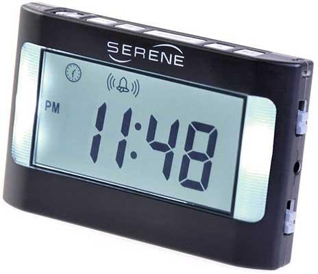 Serene Innovations VA3 Vibrating Travel Alarm Clock