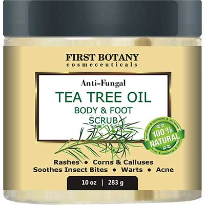 100% Natural Anti-Fungal Tea Tree Oil Body and Foot Scrub