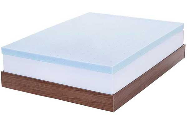 LUCID Ventilated Gel Memory Foam Mattress Topper