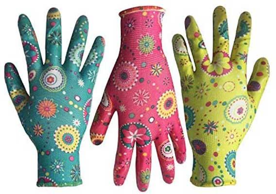 PROMEDIX Clear Nitrile Garden Working Gloves