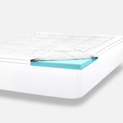 ViscoSoft 4 Inch Pillow Top Gel Memory Foam Mattress Topper