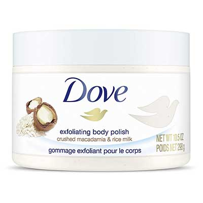 Dove Exfoliating Body Scrub To Help Relieve Dry and Dull Skin