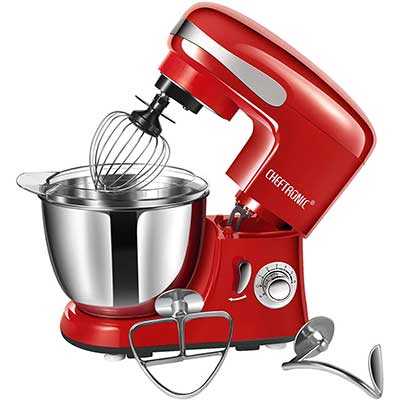 CHEFTRONIC SM928-Red Standing Mixer, One Size