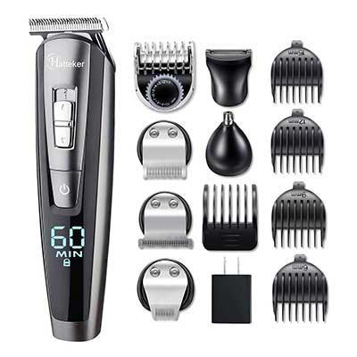 HATTEKER Hair Clipper Beard Trimmer Kit