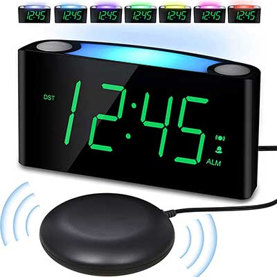 Vibrating Alarm Clock with Bed Shaker
