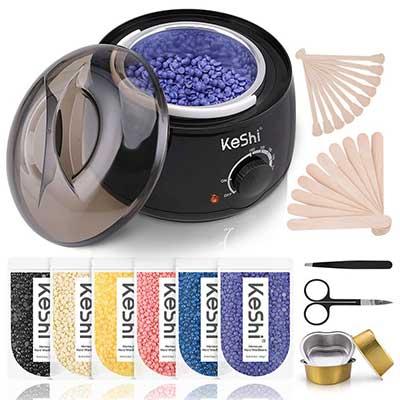 Waxing Kit, KeShi Wax Warmer Hair Removal