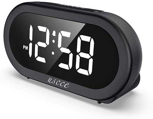 USCCE Small LED Digital Alarm Clock
