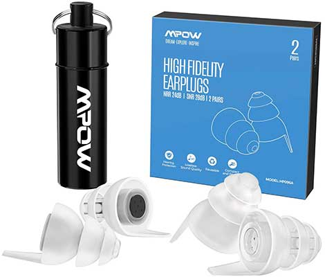 Mpow High Fidelity Earplugs, SNR 28Db