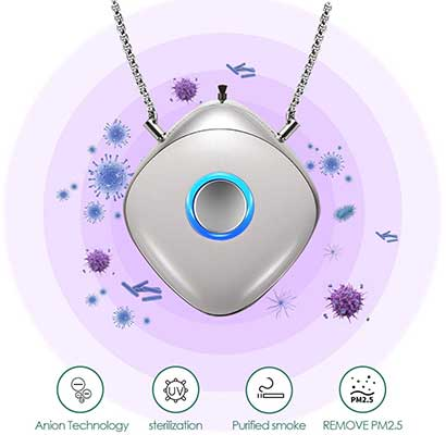 Portable Air Purifier, Necklace Wearable, Mini
