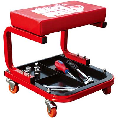 Torin TR6300 Red Rolling Creeper Garage/Shop Seat