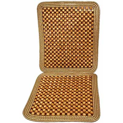 Zone Tech Wooden Beaded Car Driver Seat Cushion