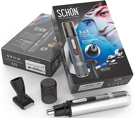 SCHON Rechargeable Nose Hair Trimmer
