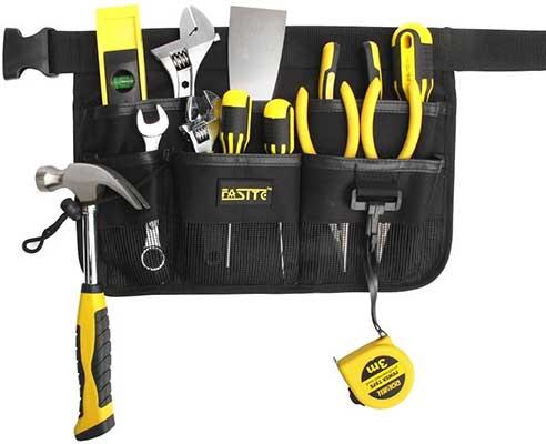 FASITE YL003B 7-Pocket Gardening Tools Belt