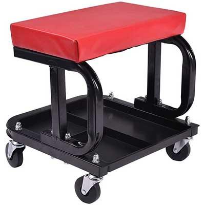 MOTOOS Rolling Creeper Seat Mechanic Stool Chair Repair Tools Tray