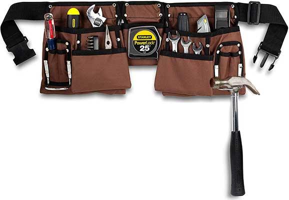 11 Pocket Heavy Duty Construction Tool Belt