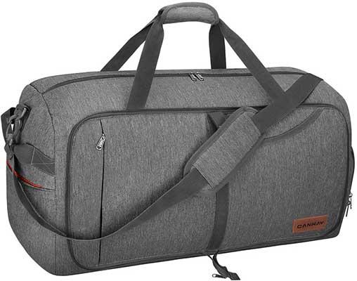 Canway 65L Travel Bag Duffel Bag, Foldable Weekender Bag