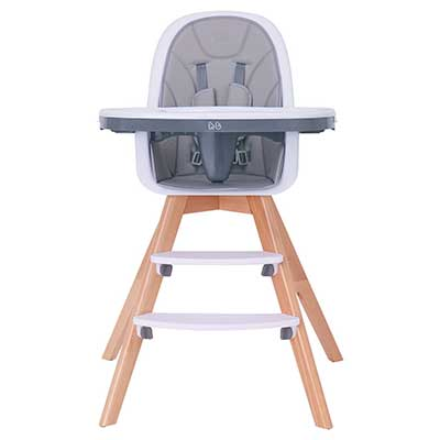 HM-tech Baby High Chair with Double Removable Tray