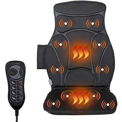 Giantex Car Seat Back Massager Cushion with Heat